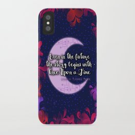 Once Upon a Time- The Lunar Chronicles Quote iPhone Case