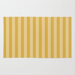 Large Two Tone Spicy Mustard Yellow Cabana Tent Stripe Rug