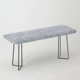 Broken but Flourishing Floral Pattern - Grey Bench