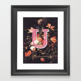 Letter U Framed Art Print