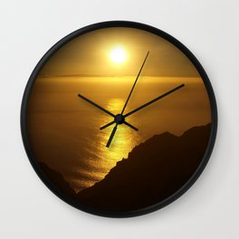 Sunset over the Canary Islands Wall Clock