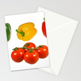 Vegetables with white background Stationery Cards