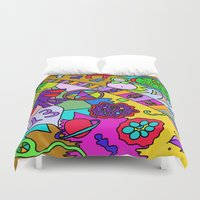 religion Duvet Covers featuring Science Verses Religion by Linda Tomei