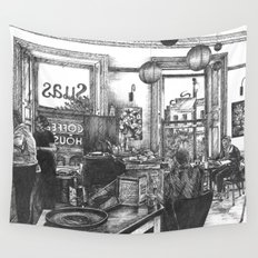 Coffee in the Afternoon Wall Tapestry