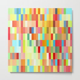 colorful rectangle grid Metal Print