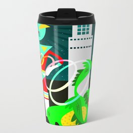 Space Invaders Metal Travel Mug