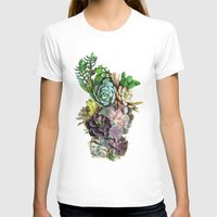 succulent T-shirts featuring Succulent gardens by Just Kidding