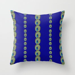 Peacock's eye Throw Pillow