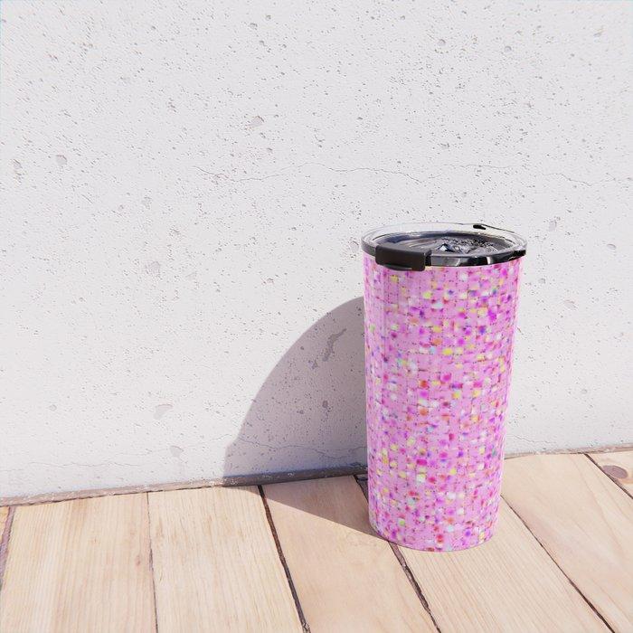 Antique Texture Lilac Travel Mug