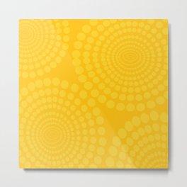 Yellow Sunbeams on Orange Background - Retro Style #decor #society6 #buyart Metal Print