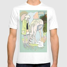 Us and Them: candy (horses) MEDIUM White Mens Fitted Tee