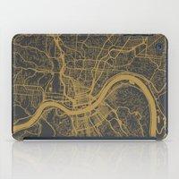 cincinnati iPad Cases featuring Cincinnati map by Map Map Maps