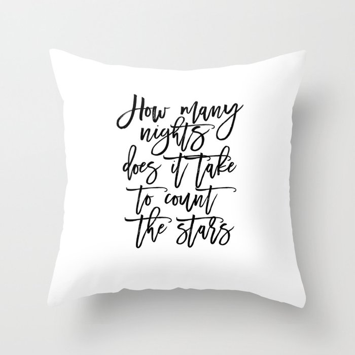 Song Lyrics Quote Song Lyrics Quote Prints Printable Art Love Sign Gift For Her Inspirational Quote Throw Pillow By Alextypography Society6