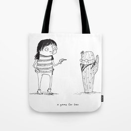 Rattail Steve: A Game for Two Tote Bag