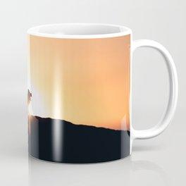 Lion Sunset Silhouette (Color) Coffee Mug