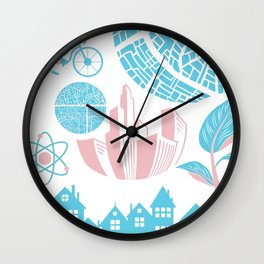Artisctic pattern of Momuments & buildings   for Urban planner  Wall Clock