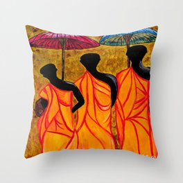 The Walking Monks-the Path To Devotion Throw Pillow