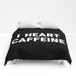 I Heart Caffeine Funny Quote Comforters