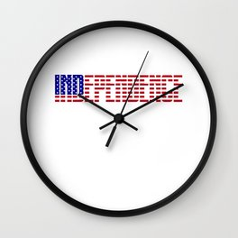 independence day 4th of july t shirt Wall Clock