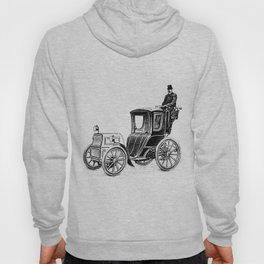 Antique Automobile Taxi Hoody