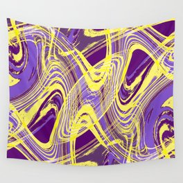 Yellow and Purple Dancing the Tango Wall Tapestry