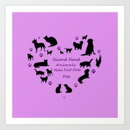 Love of the Pets Pets Typogarphy Art Print