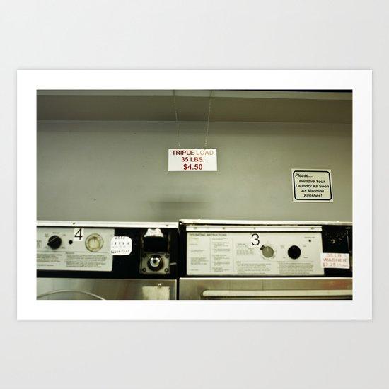 Laundry art photo NYC Art Print