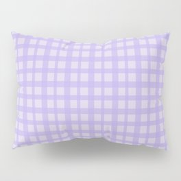 Purple Plaid Pattern Pillow Sham