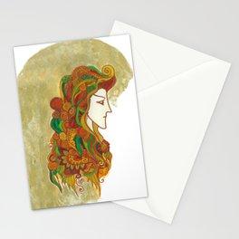 Golden Portrait Stationery Cards