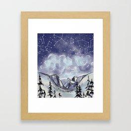 Yosemite Night Sky Modern Expression Framed Art Print