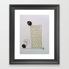 Button suicide. Framed Art Print