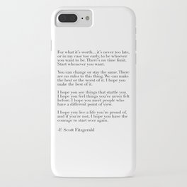 for what it's worth - fitzgerald quote iPhone Case