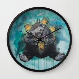 """Lice in the fur"" - Bear Wall Clock"