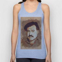 Ernest Hemingway, Author Unisex Tank Top