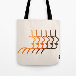 Golden Silhouettes Tote Bag