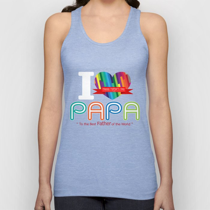 i love papa fathers day father's day t shirt Unisex Tank Top