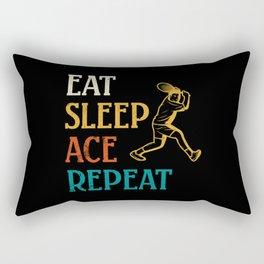 Tennis player Eat Sleep Ace Repeat Rectangular Pillow