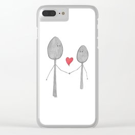 Big Spoon Little Spoon Clear iPhone Case