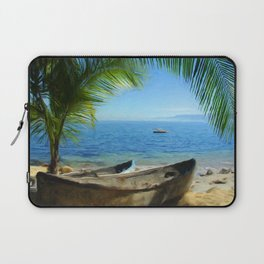 Boats at Las Caletas Laptop Sleeve