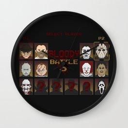 Bloody Battle 3 Wall Clock