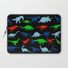 silhouettes of dinosaur pattern Laptop Sleeve