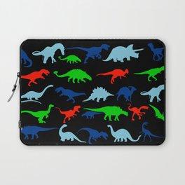 silhouettes of dinosaur pattern Laptop Sleeve