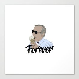Joe Biden Eating Ice Cream Forever. Canvas Print
