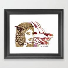 Triple She Wolf Framed Art Print
