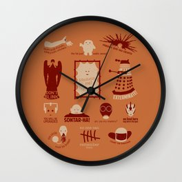 Doctor Who |Aliens & Villains (alternate version) Wall Clock