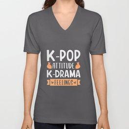 K-Pop Design for a K-Pop Fan Unisex V-Neck