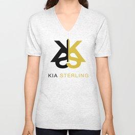 Kia Sterling Black/Gold Unisex V-Neck
