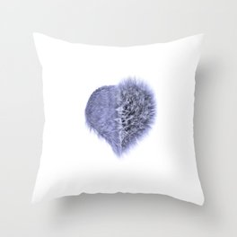 Messy Heart Throw Pillow
