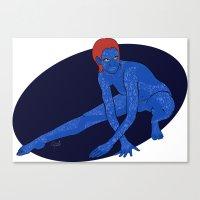 xmen Canvas Prints featuring Mystique - Xmen by HappyQiwi