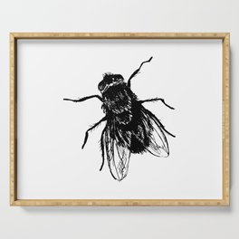 Drawing house-fly Serving Tray